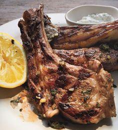 Lamb Chops with Lemon and Tzatziki