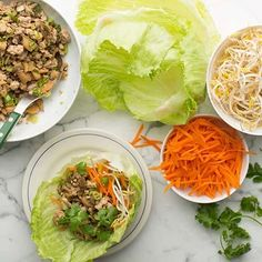 #RecipeOfTheDay Easy Turkey Lettuce Wraps  Cook ground turkey on a skillet with water chestnuts, mushrooms and an Asian-style sauce, wrap it all up in crisp iceberg lettuce leaves.