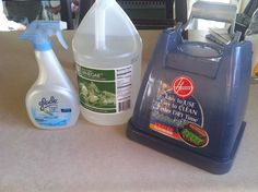 My Homemade Steam Cleaning solution: Just 1.5 cups of vinegar, 1 cup of scented glade air and room spray, (also 3 drops of dish soap) fill with hot water, then steam clean away!!