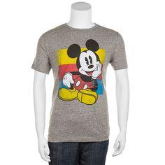 Men's Disney's Mickey Mouse Sitting Tee, Size: Medium, Dark Grey