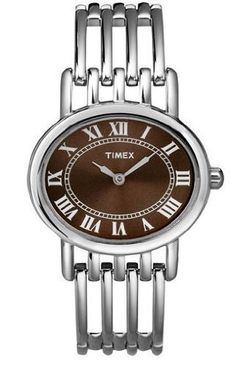 Timex Womens Classics Roman Numerals Brown Dial Stainless Steel Bracelet Watch T2N416 Timex. $39.99. Roman Numerals