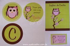 Para o chá de bebê da Cecília, trabalhamos as cores rosa, marrom e verde limão.Os balões de poá mais uma vez marcando presença e deixand...