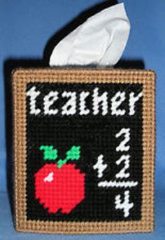Teacher Tissue Box Covers by cecrafts on Etsy, $10.00