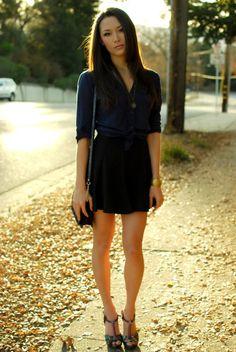 New skirt - Romwe, top - Forever 21, shoes - Aldo, bag - Aldo, necklace - Forever 21, bangle - Mom
