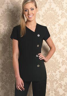 Simple and nice professional look spa uniforms spa uniform, Salon Uniform, Spa Uniform, Hotel Uniform, Scrubs Uniform, Uniform Ideas, Medical Uniforms, Work Uniforms, Salon Wear, Beauty Uniforms