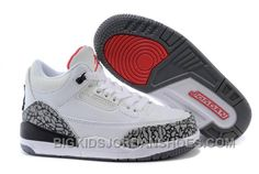 2a2c86431c33d1 Kids Jordan 3 White Cement-White Fire Red-Cement Grey-Black Hot. Kids Shoes  OnlineNike ...
