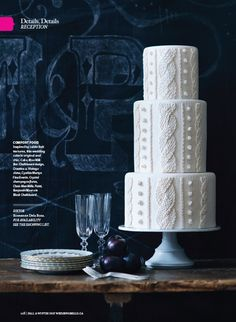 cable knit inspired #wedding cake