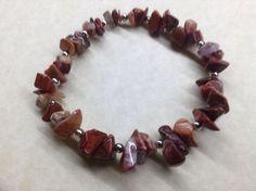 Handmade POPPY JASPER Gemstone Bead BRACELET Chakra Healing Balancing  | eBay