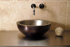 Copper Stainless Vessel by Stone Forest