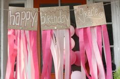 girl 1st birthday diy decorations | diy: perfectly pink birthday decorations (in a snap) | rice designs