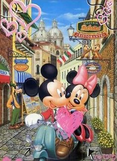 Mickey y Minnie en la ciudad