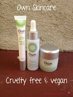 Own Vegan Skincare Products #crueltyfree #vegan #beauty