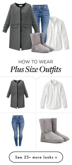 """Plus Size - Casual"" by kurvy-katie on Polyvore featuring H&M, UGG Australia, women's clothing, women, female, woman, misses, juniors, plussize and plussizefashion"