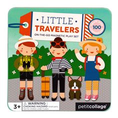 Punch out over 25 magnetic pieces that can be mixed and matched to create multiple musical friends with this adorable Little Travelers set from Petit Collage. Packaged in an easy-close tin, this on-the-go magnetic play set is perfect for travel fun.
