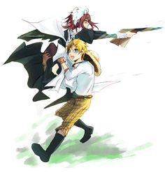 Black Butler ~~ Giving the sharpshooter some help :: May-Rin and Finny ::: [ Maylene+Finni by Miyukiko.devianta... on @deviantART ]