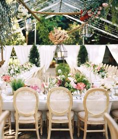 What A Dreamy Outdoor Wedding Reception Styling