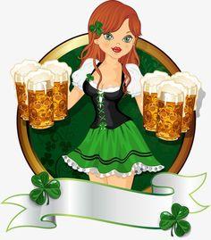 Com a cerveja., Beleza, Menina, A MulherImagem PNG