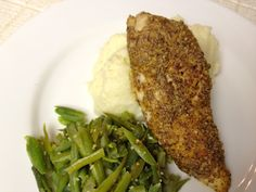 Foodie Journey: Spicy Almond-Encrusted Chicken Breast (serve without the mashed potatoes)