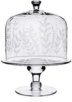 Shop Fern Cake Stand & Dome from William Yeoward at Horchow, where you'll find new lower shipping on hundreds of home furnishings and gifts. Cake Stand With Cover, Cake Plate With Dome, Cake Dome, Crystal Cake Stand, Cake Pedestal, Cake Carrier, Dessert Aux Fruits, Vintage Cake Stands, Cake Plates