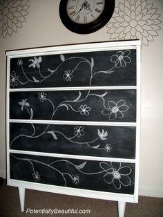 15 Chalkboard Dresser Painting Ideas | Shelterness