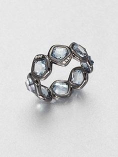 Ippolita - Blue Topaz & Diamond Ring