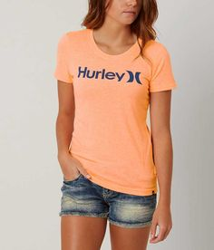 Hurley One & Only T-Shirt - Women's T-Shirts in Peach Cream   Buckle