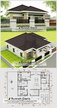 Best Modern House Design, Simple House Design, Minimalist House Design, Modern House Floor Plans, Sims House Plans, Dream House Plans, Single Storey House Plans, Affordable House Plans, Architectural Design House Plans
