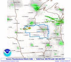 SPC Severe Thunderstorm Watch 486 Status Reports