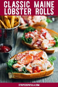 Enjoy a taste of New England at home with this Maine lobster roll recipe! With just a few easy steps youll be minutes away from eating the best lobster roll youve ever had just like the classic sandwich served at the shore! Perfect for summer entertai Lobster Roll Recipes, Best Lobster Roll, Fish Recipes, Seafood Recipes, Cooking Recipes, Lobster Rolls, Cooking Steak, Cooking Bacon, Bread Recipes