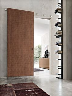 Wooden sliding door B-MOVE MULTY - BLUINTERNI