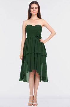b25db8f8867 Elegant A-line Strapless Sleeveless Zip up Knee Length Bridesmaid Dresses  Knee Length Bridesmaid Dresses