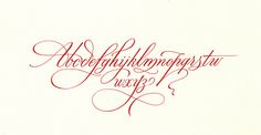 MB cursive alphabet by Luca Barcellona - Calligraphy & Lettering Arts, via Flickr