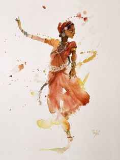 Indian Artwork, Indian Paintings, Fantasy Kunst, Fantasy Art, Dancer Drawing, Indian Illustration, Timberwolf, Dancing Drawings, India Art
