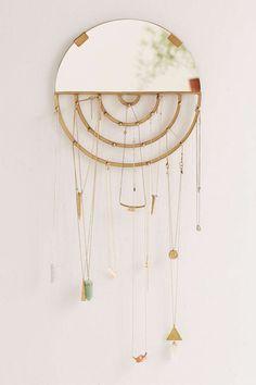 Aimee Jewelry Storage Hanging Mirror, $29, urbanoutfitters.com