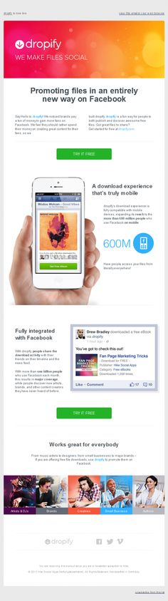 Dropify – Newsletters HTML email marketing design