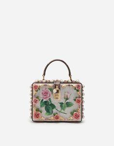 Women's Bags and Purses Dolce & Gabbana, Dolce And Gabbana Handbags, Barbie Accessories, Handbag Accessories, Metallic Bag, Box Bag, Purses And Bags, Women's Bags, Small Purses