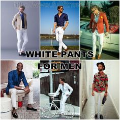 Facebook Twitter Google+ Pinterest StumbleUpon How White Pants for Men is a Perfect Choice: 40 Looks to Justify