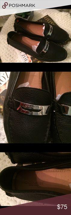 Coach driving moccasins sz 8 1/2B Coach driving moccasins, black. Never worn, super soft. Sz 8 1/2B. Coach Shoes Moccasins