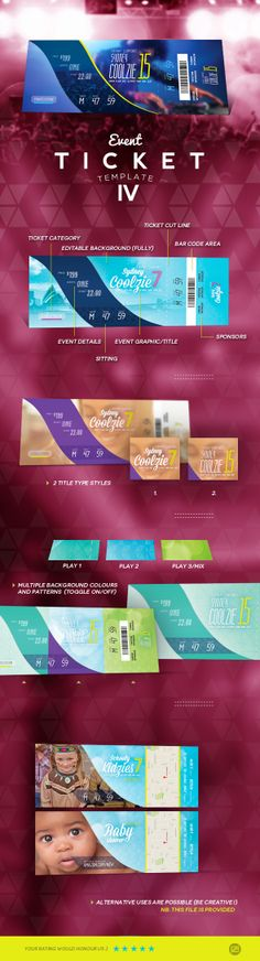 Special Party Event Ticket V04 Event ticket, Ticket template and - design tickets template