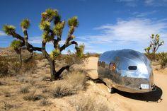 super cool caravan, spectacular photo! Vintagetrailercamp.com  TRAIL ALONG TO PISMO 2012 :: BowlusJoshuaTreeOffroading