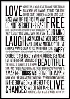 A fabulous art poster with a inspirational message that will look good in every home. For a nice touch, match this print with out other posters and art prints in a wall art collage. www.desenio.co.uk