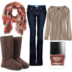 """""""Cold Weather Outfit"""" by daisylovee on Polyvore"""