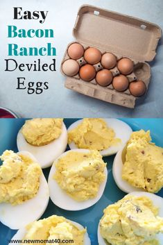 These Easy Bacon Ranch Deviled Eggs are delicious and perfect to make with this simple recipe. Great for potluck, holidays, snacks, side dish, and diets. We love these flavorful deviled eggs! #deviledeggs #ranch #rancheggs #easydeviledeggs #fresheggs #farmeggs Healthy Snacks To Make, Quick Snacks, My Favorite Food, Favorite Recipes, Deviled Eggs, Side Dish, Diets, Ranch, Bacon