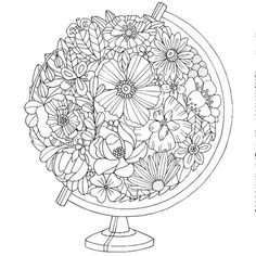 Trendy Ideas Embroidery Patterns Tree Printables Mandala Coloring Pages Coloring Pages For Grown Ups, Coloring Book Pages, Printable Coloring Pages, Coloring Sheets, Flower Coloring Pages, Mandala Coloring, Digi Stamps, Free Coloring, Zentangle