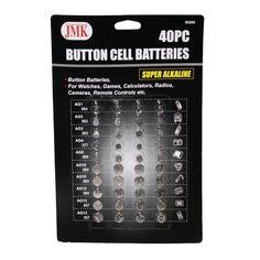 Button Cell Batteries 40 PC AG1 AG3 AG4 AG5 AG10 AG12 1.5 Volts Alkaline Coin !!