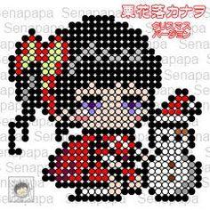 クリスマス 鬼滅の刃 栗花落カナヲ アイロンビーズの図案 – セナパパBLOG Peler Beads, Plastic Canvas Patterns, Needle And Thread, Hama Beads, Pixel Art, Cross Stitch, Dots, Anime, Stitches