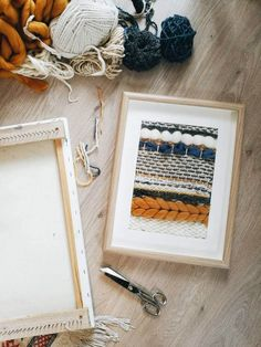 Items similar to Frame weaving on Etsy – Kate Nurmalso – weberei Weaving Wall Hanging, Weaving Art, Loom Weaving, Tapestry Weaving, Hand Weaving, Diy Projects To Try, Craft Projects, Arts And Crafts, Diy Crafts