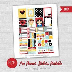 Free Disney Inspired Planner Printable | Suitable for the Erin Condren Planner