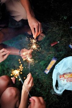 Sparklers mean summer.