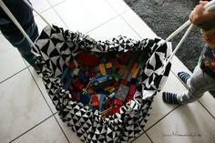 Mama hoch 2 Spielzeugsack/teppich nähen zum schnellen Aufräumen